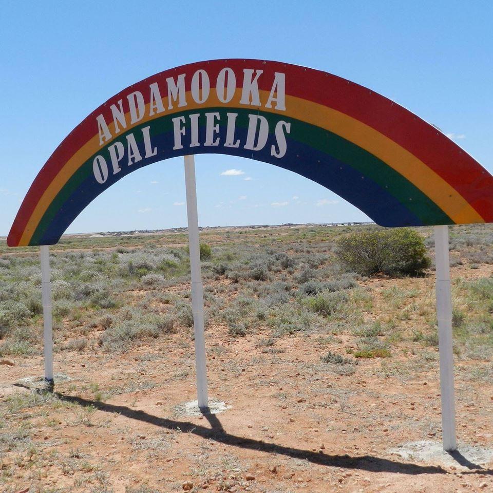 andamooka entrance sign